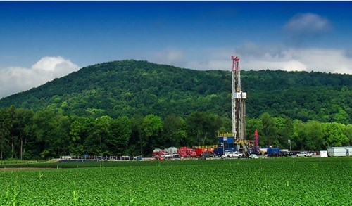 Photo of Marcellus Shale well in Pennsylvannia